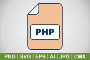 Print on Demand: Vector PHP Icon Graphic Icons By IYIKON