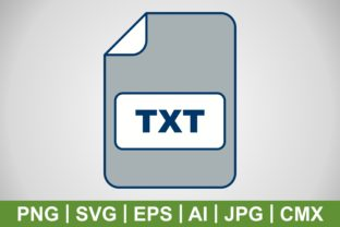 Print on Demand: Vector TXT Icon Graphic Icons By IYIKON