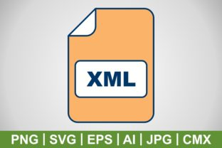 Print on Demand: Vector XML Icon Graphic Icons By IYIKON