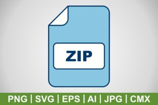 Print on Demand: Vector ZIP Icon Graphic Icons By IYIKON