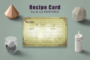 Print on Demand: Vintage Recipe Card Template Graphic Print Templates By Creative Tacos