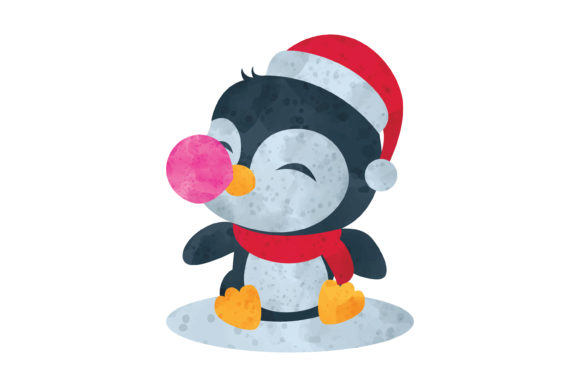 Print on Demand: Water Color Penguin Illustration Graphic Illustrations By MAMD