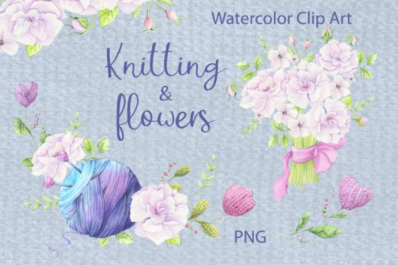 Print on Demand: Watercolor Clipart Delicate Pink Flowers Graphic Illustrations By nicjulia
