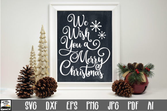 Print on Demand: We Wish You a Merry Christmas Graphic Crafts By oldmarketdesigns