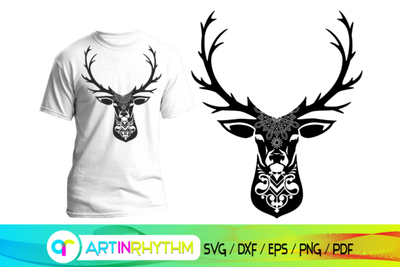Deer Svg, Reindeer Svg Graphic Crafts By artinrhythm