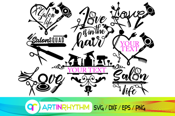 Hair and Make Up Svg, Salon Svg Graphic Crafts By artinrhythm