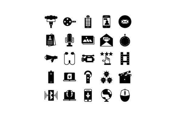 Media Glyph Icon Graphic Icons By astuti.julia93@gmail.com
