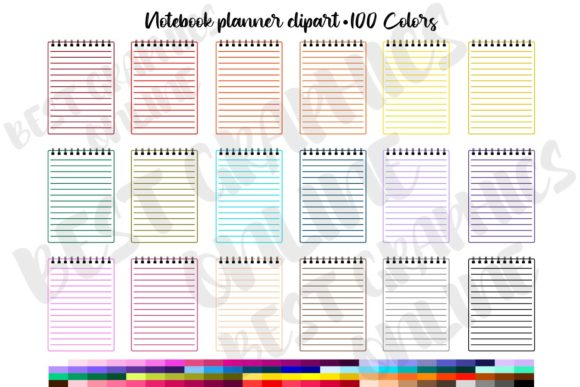 100 Notebook Planner Stickers Clipart Graphic Print Templates By bestgraphicsonline