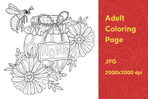 Print on Demand: Adult Coloring Page Graphic Coloring Pages & Books Adults By YAZZIK - Image 1