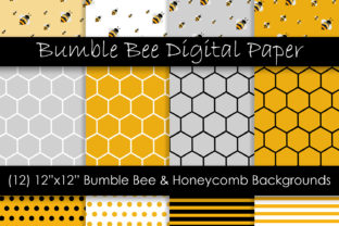 Honey Bee Patterns Graphic Patterns By GJSArt 1