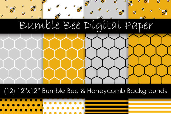 Honey Bee Patterns Graphic Patterns By GJSArt