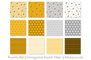 Honey Bee Patterns Graphic Patterns By GJSArt 2