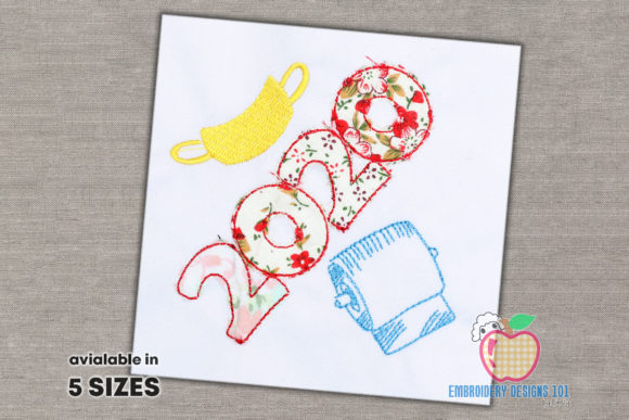 2020 Mask Toilet Paper Applique Inspirational Embroidery Design By embroiderydesigns101