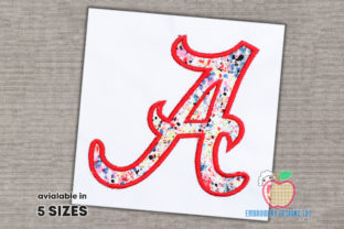 A for Alabama Design Applique South America Embroidery Design By embroiderydesigns101