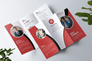 Agency Tri-fold Brochure Graphic Print Templates By Pixelpick