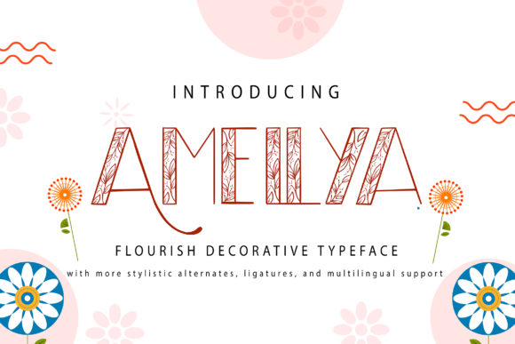 Print on Demand: Amellya Decorative Font By Vunira
