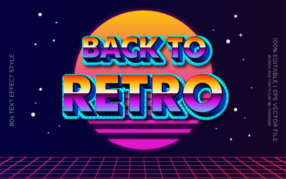 BACK to RETRO 80S TEXT EFFECTS Graphic Layer Styles By Neyansterdam17