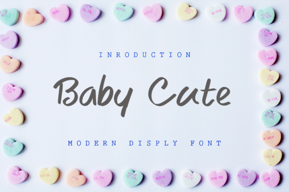 Print on Demand: Baby Cute Script & Handwritten Font By giatstudios