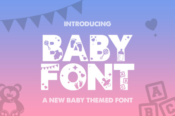 Print on Demand: Baby Display Font By Salt & Pepper Designs