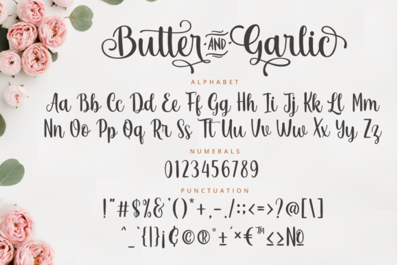 Butter and Garlic Font Download