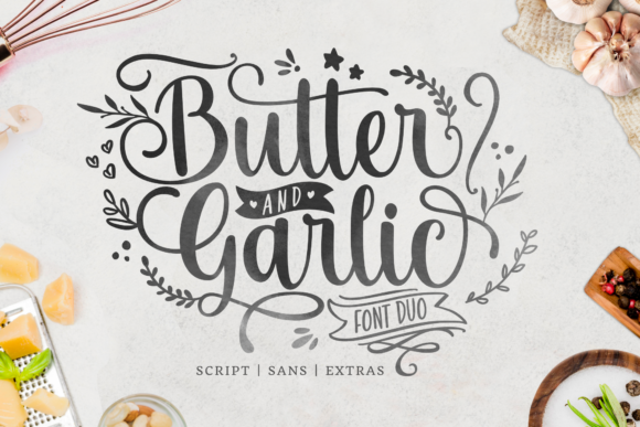 Print on Demand: Butter and Garlic Script & Handwritten Schriftarten von Holydie Studio