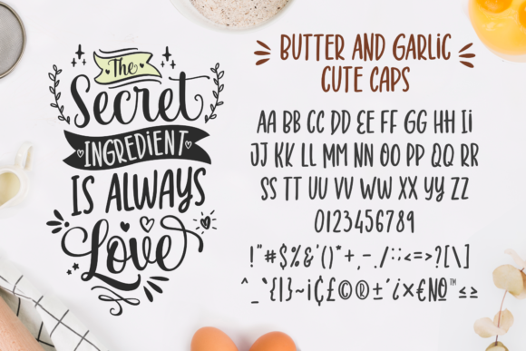 Butter and Garlic Font Item