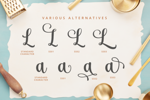 Butter and Garlic Font Preview