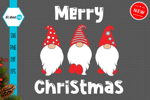 Christmas Gnomes Svg, Merry Christmas Graphic Crafts By All About Svg