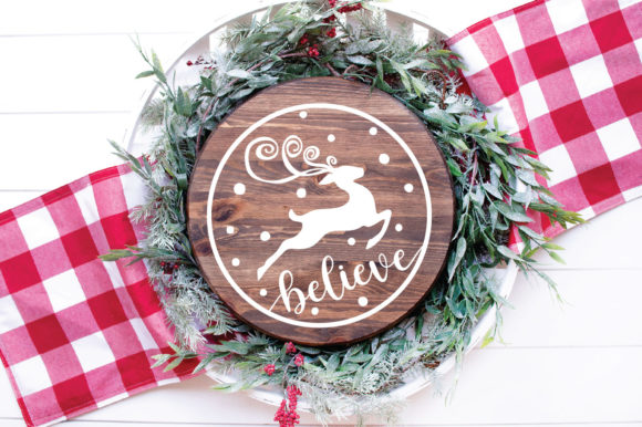 Christmas Ornament Believe Graphic By Oldmarketdesigns Creative Fabrica