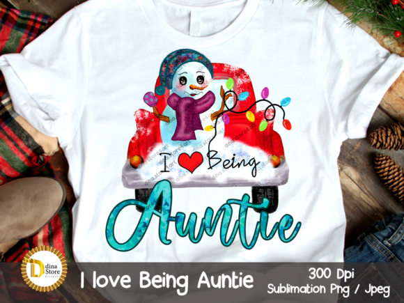 Print on Demand: Christmas Sublimation Design - Auntie Graphic Crafts By dina.store4art