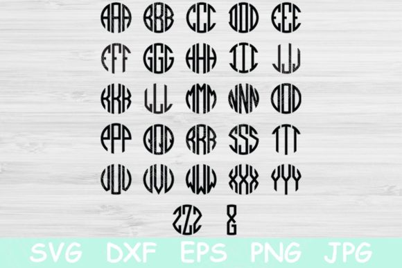 Circle Block Monogram Font Svg Cricut. Graphic Crafts By TiffsCraftyCreations