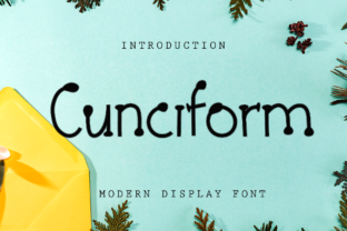Print on Demand: Cunciform Display Font By giartstudios
