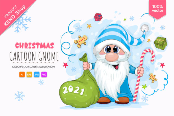 Cute Christmas Gnome Graphic Illustrations By Keno Shop