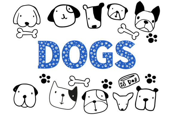 Print on Demand: Dog Decorative Font By Vladimir Carrer