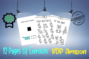 Exercices for Toddlers of Tracing Graphic KDP Interiors By BM_Studio