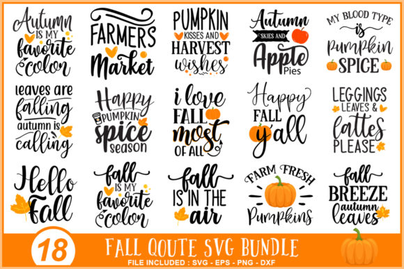 Fall Autumn Bundle Graphic Print Templates By Sellzz