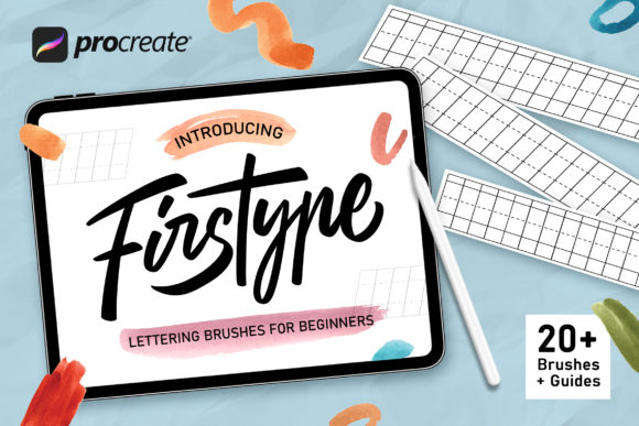 Firstype Procreate Lettering Brushes Graphic Brushes By Nurmiftah