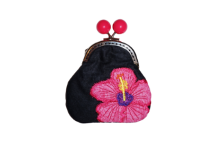 Flower Coin Purse in the Hoop - 1