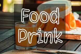 Print on Demand: Food Drink Display Font By FL Space