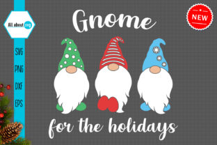 Print on Demand: Gnome for Holidays Svg Graphic Crafts By All About Svg
