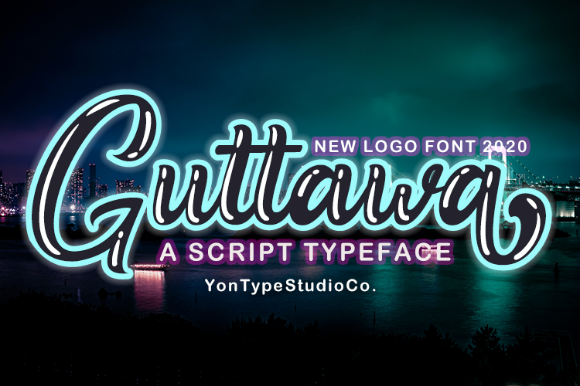 Print on Demand: Guttawa Script & Handwritten Font By YonTypeStudio.Co