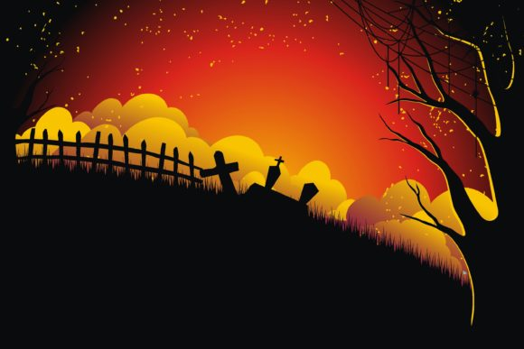 Print on Demand: Halloween Scary Night Illustration Graphic Illustrations By edywiyonopp