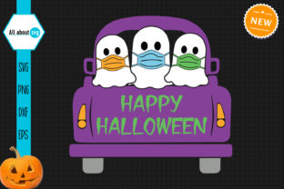 Halloween Truck Svg, Halloween Ghosts Graphic Crafts By All About Svg