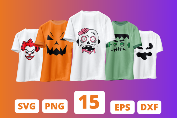 Halloween Face SVG Bundle Graphic Crafts By SvgOcean