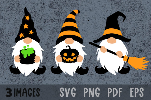 Halloween Gnomes Fall Gnome Clipart Graphic Crafts By GreenWolf Art