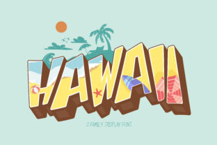 Print on Demand: Hawaii Display Font By BB Digital Arts