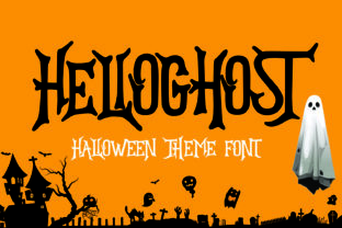 Print on Demand: Hello Ghost Display Font By Mozatype