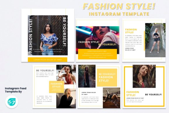Instagram Feed Template - Fashion Style Graphic Presentation Templates By 57creative