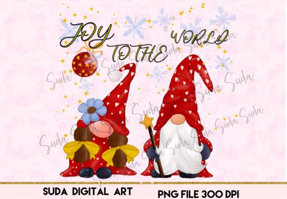 Print on Demand: Joy to the World Christmas Sublimation Graphic Illustrations By Suda Digital Art