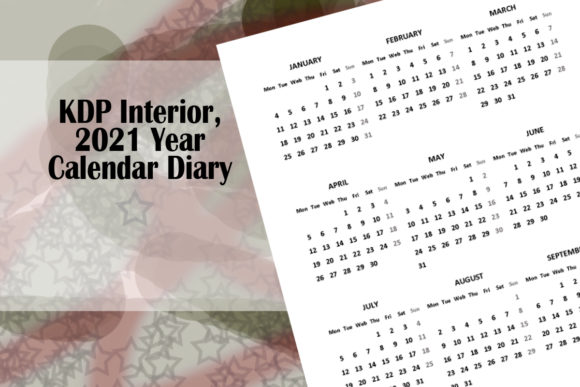 Print on Demand: KDP Interior, 2021 Year Calendar Diary Graphic KDP Interiors By Designs_by_Shorty